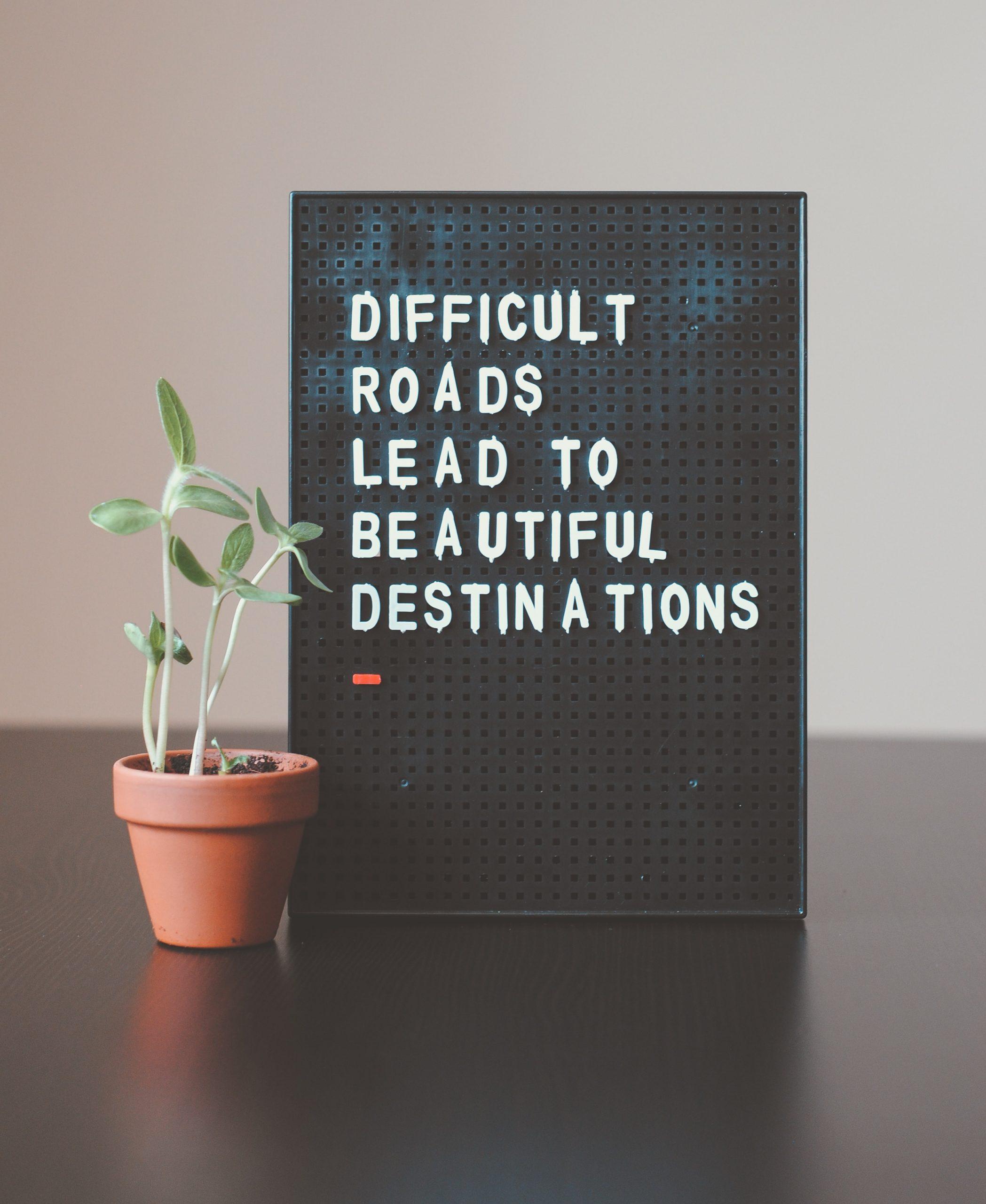 Inspirational letter board
